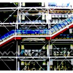 Centre Georges Pompidou - Beaubourg - Paris Gilt Paysages Urbains N°: PU19