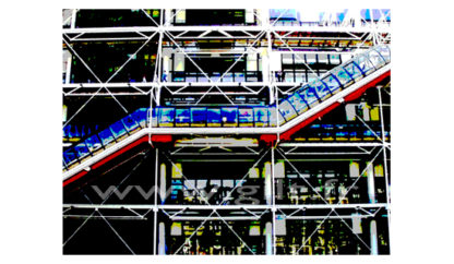 Centre Georges Pompidou - Beaubourg - Paris Gilt Paysages Urbains N°: PU19