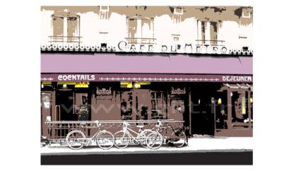 Café du Métro - Paris Gilt Paysages Urbains N°: PU06