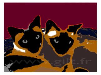 Deux Siamoises Gilt Animaux N°: AN05