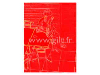 Femme assise - Fond rouge Gilt Personnages N°: PER06