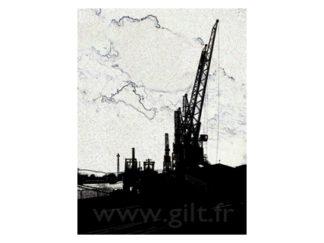 Grues portuaires - Dieppe Gilt Paysages Urbains N°: PU15
