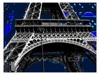 La Tour Eiffel - Paris Gilt Paysages Urbains N°: PU01