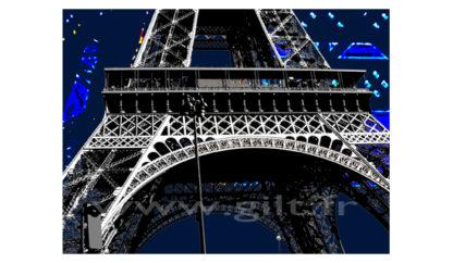 La Tour Eiffel - Paris Gilt Paysages Urbains N°: PU01