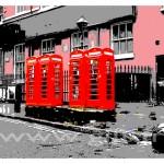 Londres - Quatre Cabines Téléphoniques Rouges Gilt Paysages Urbains N°: PU08