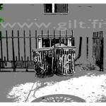 New-York - Deux Poubelles Gilt Paysages Urbains N°: PU11