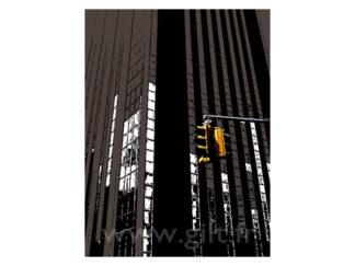 New-York - Gratte Ciel et Feux rouges Gilt Paysages Urbains N°: PU14