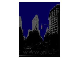 New-York - Le Fer à Repasser (Le Flatiron Building) Gilt Paysages Urbains N°: PU12
