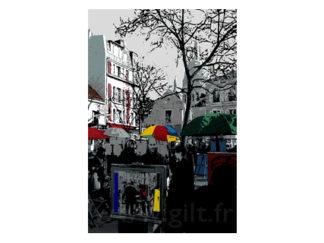 Place du Tertre - Montmartre - Paris Gilt Paysages Urbains N°: PU22