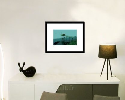 Décoration d'intérieur - séjour - meuble, lampe et sculpture avec Estampe d'Art Gilt - Mer M07