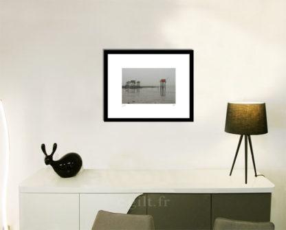 Décoration d'intérieur - séjour - meuble, lampe et sculpture avec Estampe d'Art Gilt - Mer M12