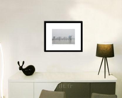 Décoration d'intérieur - séjour - meuble, lampe et sculpture avec Estampe d'Art Gilt - Mer M14
