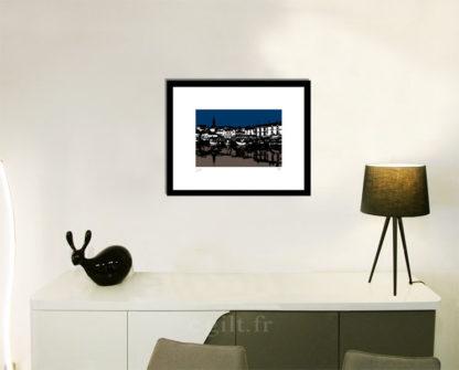 Décoration d'intérieur - séjour - meuble, lampe et sculpture avec Estampe d'Art Gilt - Mer M15