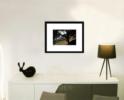 Décoration d'intérieur - séjour - meuble, lampe et sculpture avec Estampe d'Art Gilt - Mer M17