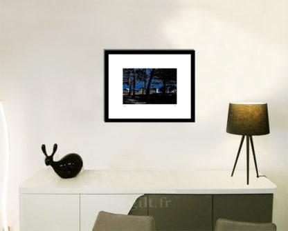 Décoration d'intérieur - séjour - meuble, lampe et sculpture avec Estampe d'Art Gilt - Mer M18