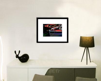 Décoration d'intérieur - séjour - meuble, lampe et sculpture avec Estampe d'Art Gilt - Mer M21