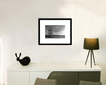Décoration d'intérieur - séjour - meuble, lampe et sculpture avec Estampe d'Art Gilt - Mer M23