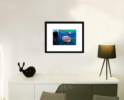 Décoration d'intérieur - séjour - meuble, lampe et sculpture avec Estampe d'Art Gilt - Mer M24