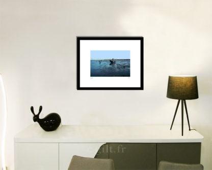 Décoration d'intérieur - séjour - meuble, lampe et sculpture avec Estampe d'Art Gilt - Mer M27