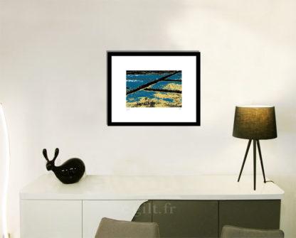 Décoration d'intérieur - séjour - meuble, lampe et sculpture avec Estampe d'Art Gilt - Mer M29