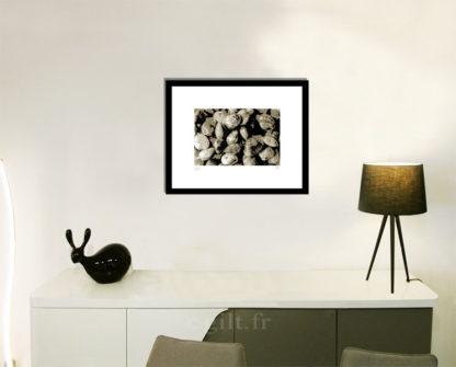 Décoration d'intérieur - séjour - meuble, lampe et sculpture avec Estampe d'Art Gilt - Mer M30
