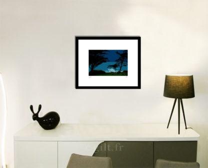 Décoration d'intérieur - séjour - meuble, lampe et sculpture avec Estampe d'Art Gilt - Mer M32