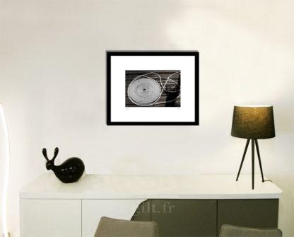 Décoration d'intérieur - séjour - meuble, lampe et sculpture avec Estampe d'Art Gilt - Mer M33