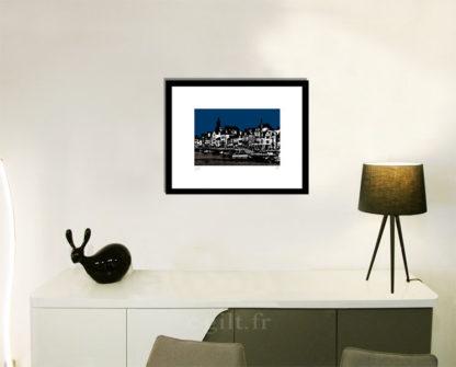 Décoration d'intérieur - séjour - meuble, lampe et sculpture avec Estampe d'Art Gilt - Mer M35