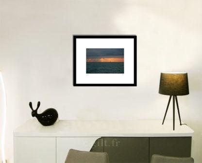 Décoration d'intérieur - séjour - meuble, lampe et sculpture avec Estampe d'Art Gilt - Mer M39