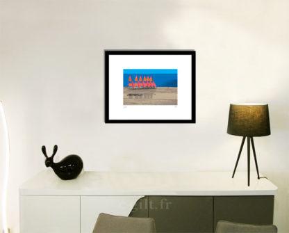 Décoration d'intérieur - séjour - meuble, lampe et sculpture avec Estampe d'Art Gilt - Mer M42