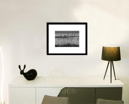 Décoration d'intérieur - séjour - meuble, lampe et sculpture avec Estampe d'Art Gilt - Mer M43