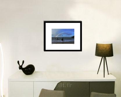 Décoration d'intérieur - séjour - meuble, lampe et sculpture avec Estampe d'Art Gilt - Mer M44