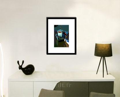 Décoration d'intérieur - séjour - meuble, lampe et sculpture avec Estampe d'Art Gilt - Mer M45