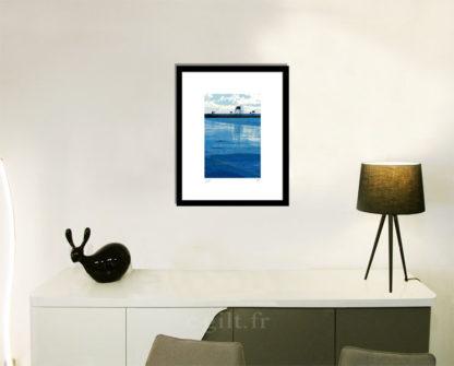 Décoration d'intérieur - séjour - meuble, lampe et sculpture avec Estampe d'Art Gilt - Mer M46