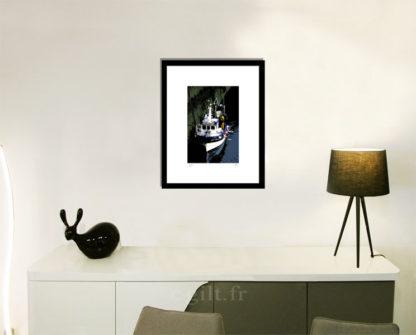 Décoration d'intérieur - séjour - meuble, lampe et sculpture avec Estampe d'Art Gilt - Mer M47