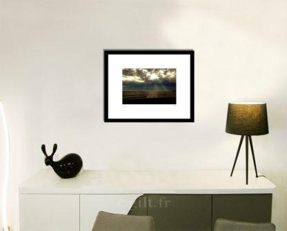 Décoration d'intérieur - séjour - meuble, lampe et sculpture avec Estampe d'Art Gilt - Mer M48