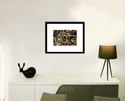 Décoration d'intérieur - séjour - meuble, lampe et sculpture avec Estampe d'Art Gilt - Mer M49