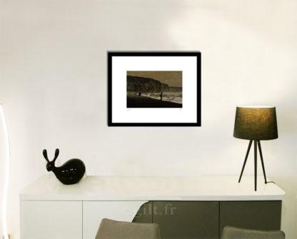 Décoration d'intérieur - séjour - meuble, lampe et sculpture avec Estampe d'Art Gilt - Mer M53