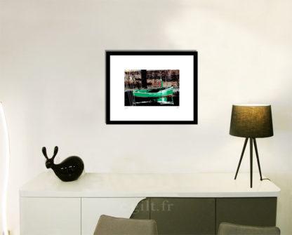 Décoration d'intérieur - séjour - meuble, lampe et sculpture avec Estampe d'Art Gilt - Mer M54