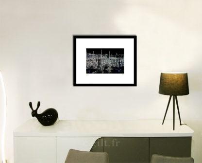 Décoration d'intérieur - séjour - meuble, lampe et sculpture avec Estampe d'Art Gilt - Mer M56