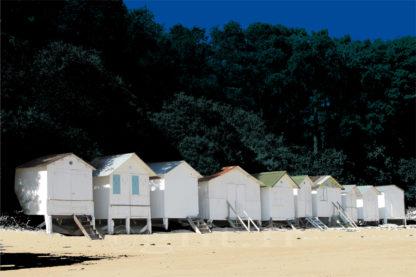 Cabines de Plage - Noirmoutier en l'Ile - Gilt réf.: M04 - Thème Mer - Estampe