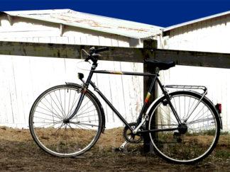 Vélo et Cabine de Plage - Noirmoutier en l'Ile - Gilt réf.: M05 - Thème Mer - Estampe