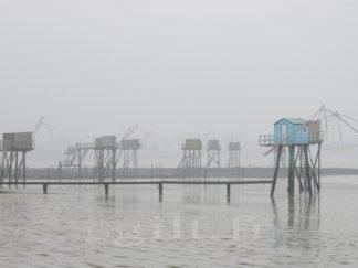 La Pêcherie Bleue - Côte de Jade - Gilt réf.: M14 - Thème Mer - Estampe