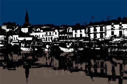Pornic - Le Vieux Port - Gilt réf.: M15 - Thème Mer - Estampe