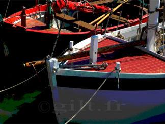 Deux Bateaux - Gilt réf.: M21 - Thème Mer - Estampe