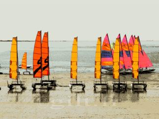Ecole de voile - Catamarans - la Baule-les-Pins - Gilt réf.: M22 - Thème Mer - Estampe