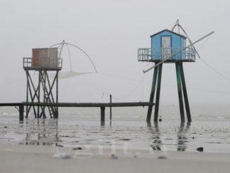 Les deux Pêcheries - Côte de Jade - Gilt réf.: M25 - Thème Mer - Estampe