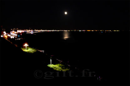 Pleine Lune - Plage de la Baule-les-Pins - Gilt réf.: M38 - Thème Mer - Estampe