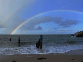 Arc en Ciel sur la Plage - Gilt réf.: M44 - Thème Mer - Estampe