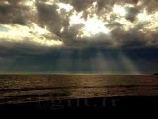 Mer et Ciel orageux - Loire Atlantique - Gilt réf.: M48 - Thème Mer - Estampe